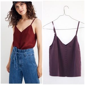 NWT MADEWELL SIZE 2 BUTTON CAMI TANK 🌸❤️
